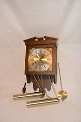 VINTAGE LINDEN 31 DAY WALL CLOCK WITH ALL WOOD CASE - #8054B