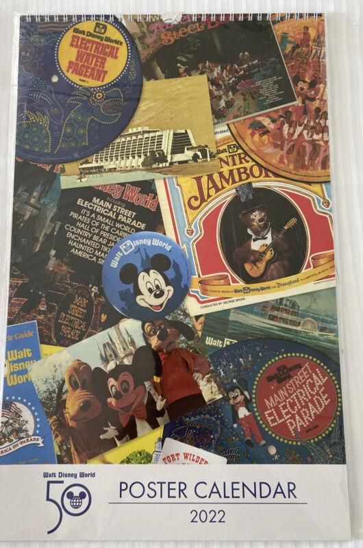 Walt Disney World 50th Anniversary Celebration 2022 Poster Calendar NEW! Sealed!