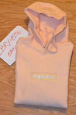 Supreme box logo Bogo hoodie sweater Peach Size Medium