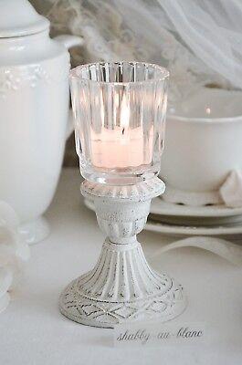 Glasaufsatz Windlicht Kerzenleuchter Hurricane Kerze Shabby Chic Landhaus