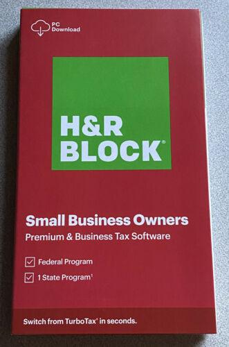 H&R Block Tax 2020 Premium & Business New Retail Box 1116600-20 735290106995