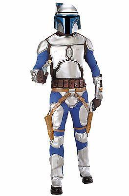 STAR WARS JANGO FETT Adult Halloween Armored Costume Episode II Bounty Hunter - Adult Jango Fett Costume