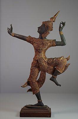 Vintage Rama Two Tone Bronze Patina Figurine 1940 1950 Thailand Thai Prince Rama