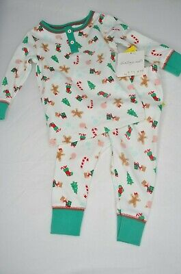SALE! STARTING OUT 12 Month Infant Girls 2 Piece CHRISTMAS Pajama Set, NWT (Toddler Pjs Sale)