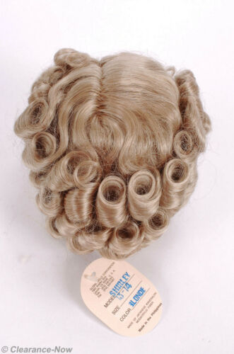 Shirley Doll Wig 13-14 Blond Ringlets Side Part New Old Stock Global Dolls 7932