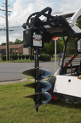 Lowe 750 Hex Auger Drive Digger With 24 Wide Bit Fits Skid Steer Quick Attach