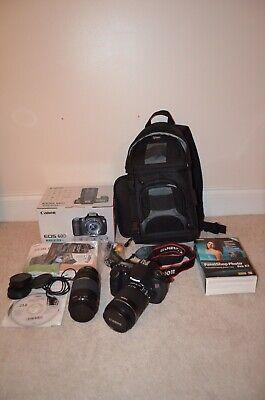 Canon EOS 60D DSLR Digital SLR Camera Bundle Excellent Condition Free Shipping