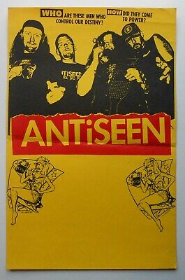 RARE ANTiSEEN 1995 CONCERT TOUR BLANK POSTER PUNK (1995 Concert Poster)