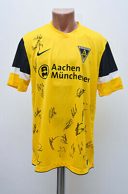 ALEMANNIA AACHEN GERMANY SIGNED 2011/2012 HOME FOOTBALL SHIRT NIKE SIZE L ADULT image