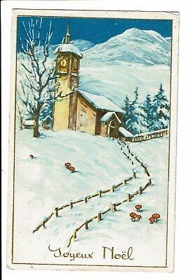 CPA-Carte postale -Belgique -Joyeux Noël-Paysage d'hiver 1934-S3922