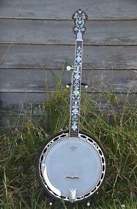 "BANJO ""The Angel"" unique custom Bluegrass 5 string Bulahdelah Great Lakes Area Preview"