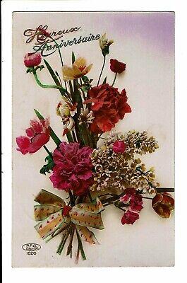 CPA - Carte Postale -Belgique-Heureux anniversaire avec des fleurs--1926-VM2512