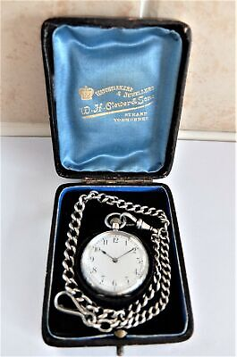 1900 SILVER CASED OMEGA 15 JEWELLED SWISS LEVER POCKET WATCH / FOB WATCH WORKING