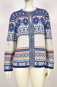 Susan Bristol Wool Nordic Cardigan Sweater Size L - <span itemprop='availableAtOrFrom'>Europe, Polska</span> - Susan Bristol Wool Nordic Cardigan Sweater Size L - Europe, Polska