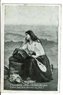 CPA - Carte Postale-Belgique -Fantaisie femme pensive -1909 VM1842