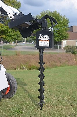 Lowe 750 Hex Auger Drive Digger With 6 Wide Bit Fits Skid Steer Quick Attach