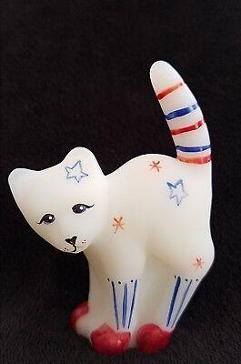 Fenton SCAREDY CAT Patriotic Hand Painted #47/150