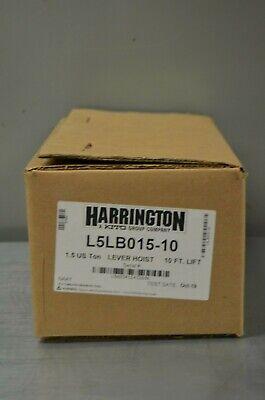 Harrington L5lb015 10 1.5 Us Ton Lever Hoist 10 Lift Chain Come A Long