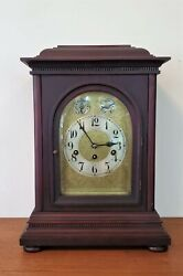 Antique Junghans Bracket Clock Westminster Chimes 8 Day Shelf Mantle Germany