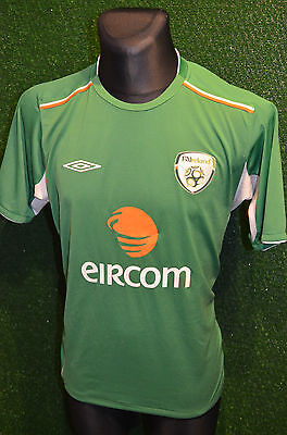 IRELAND EIRE UMBRO 2004-06 HOME FOOTBALL SOCCER SHIRT (L) JERSEY TOP TRIKOT RARE image
