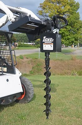 Lowe 750 Round Auger Drive With 6 Bit Fits Skid Steer Loader Quick Attachment