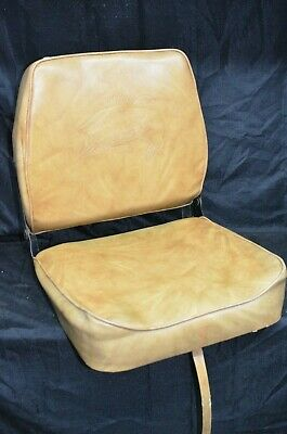 Vintage B&M Wise Marine Folding Bass Boat Seat Chair Fishing Fold Fish Embossed