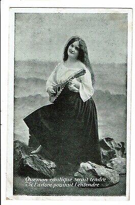 CPA - Carte Postale-Belgique -Fantaisie femme Chantant 1909 VM1841