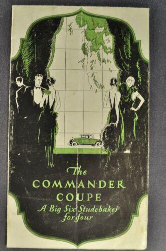 1927 Studebaker Commander Coupe Sales Brochure Folder Original 27
