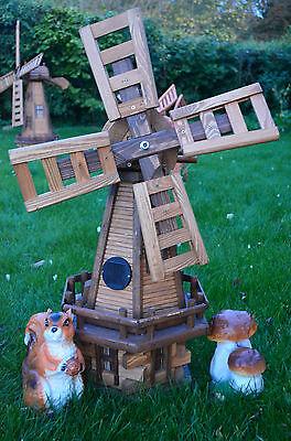 Wooden Windmill / Solar Light / Garden Windmills / Unusual Christmas Present