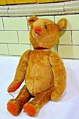 """Steiff Teddy Bear Antique Vintage Early Steiff Bear  17""""  Stieff Bear (033)"""