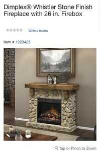 Whistler Stone finish Fireplace ( mantle )
