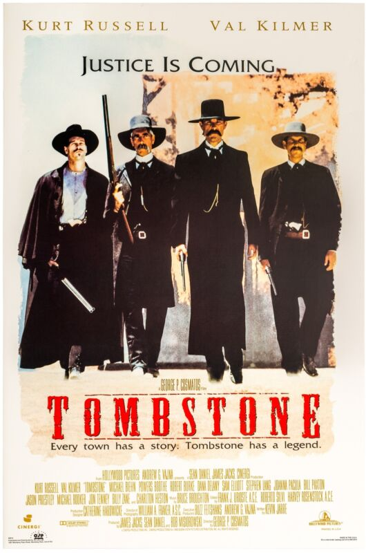 TOMBSTONE MOVIE POSTER, USA Version, (Size 24 x 36)