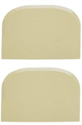 Schneider 227355 Abs Plastic Round Edges Dough Cream Scraper 4-34-inch 2 Pack