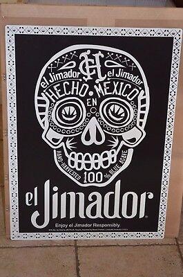 NEW El Jimador Sugar Skull Dia de los Muertos Day of the dead Tin Sign