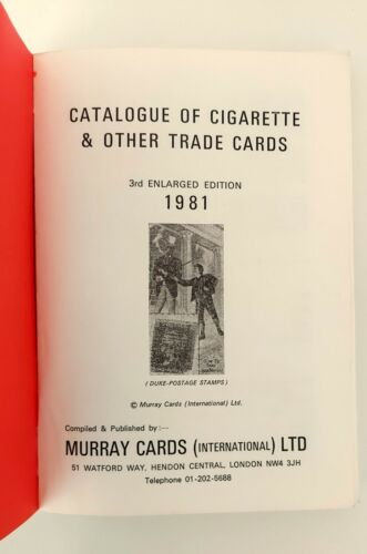 Catalogue of Cigarette & other trade cards (1981) Murray Cards