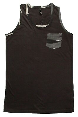 Brown Mens Tank Top (Camo Tank Top for Men, Gray or Brown and Green- Small to XL )