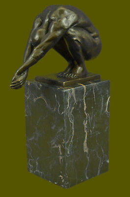 Signed Real Milo Sensual Nude Naked Man Bookend Bronze Sculpture Figurine SALE
