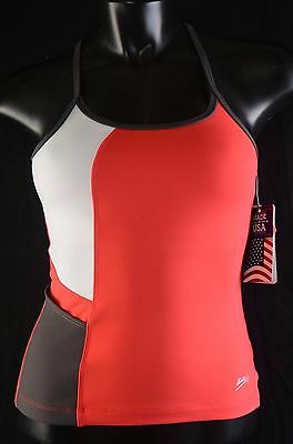 Sofibella Tennis Racerback Tank Top Stretch Red White Gray Size XSmall New NWT