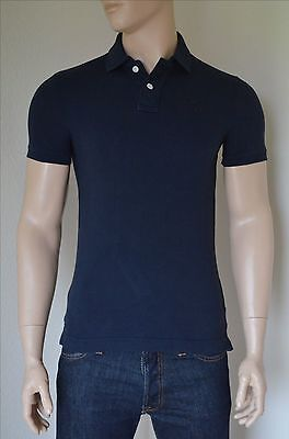 NEW Abercrombie & Fitch Beaver Mountain Polo Shirt Navy Blue Moose S...