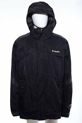 Columbia Mens Bugaboo Black Gray Hooded Coat Jacket Parka Zip-In Fleece Layer L Bugaboo Gray Fleece