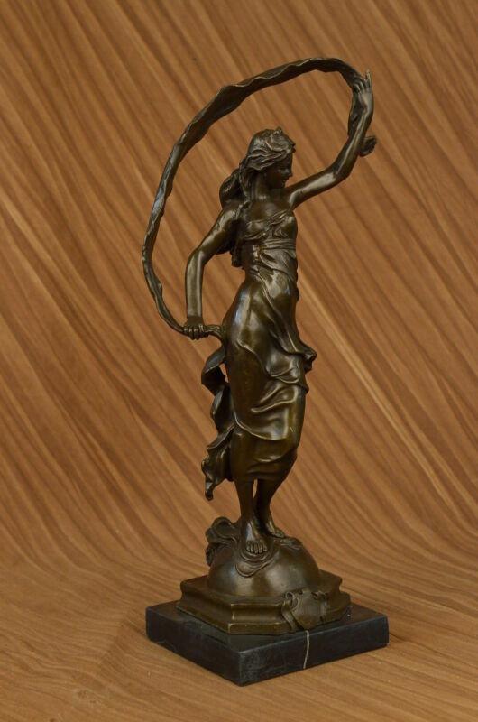 BRONZE ART SCULPTURE STATUE FIGURINE DECOR ORNAMENT GIRL BY ALDO VITALEH FIGURE
