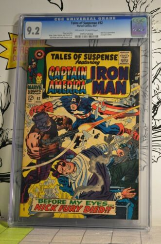 Tales of Suspense #92 CGC 9.2 Iron Man Captain America Nick Fury appearance