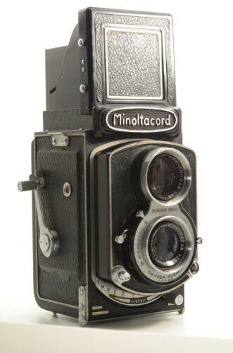 EXCELLENT Minolta cord CHIYOKO 75mm f3.5 PROMA sIII SEIKOSHA TLR MF Film camera