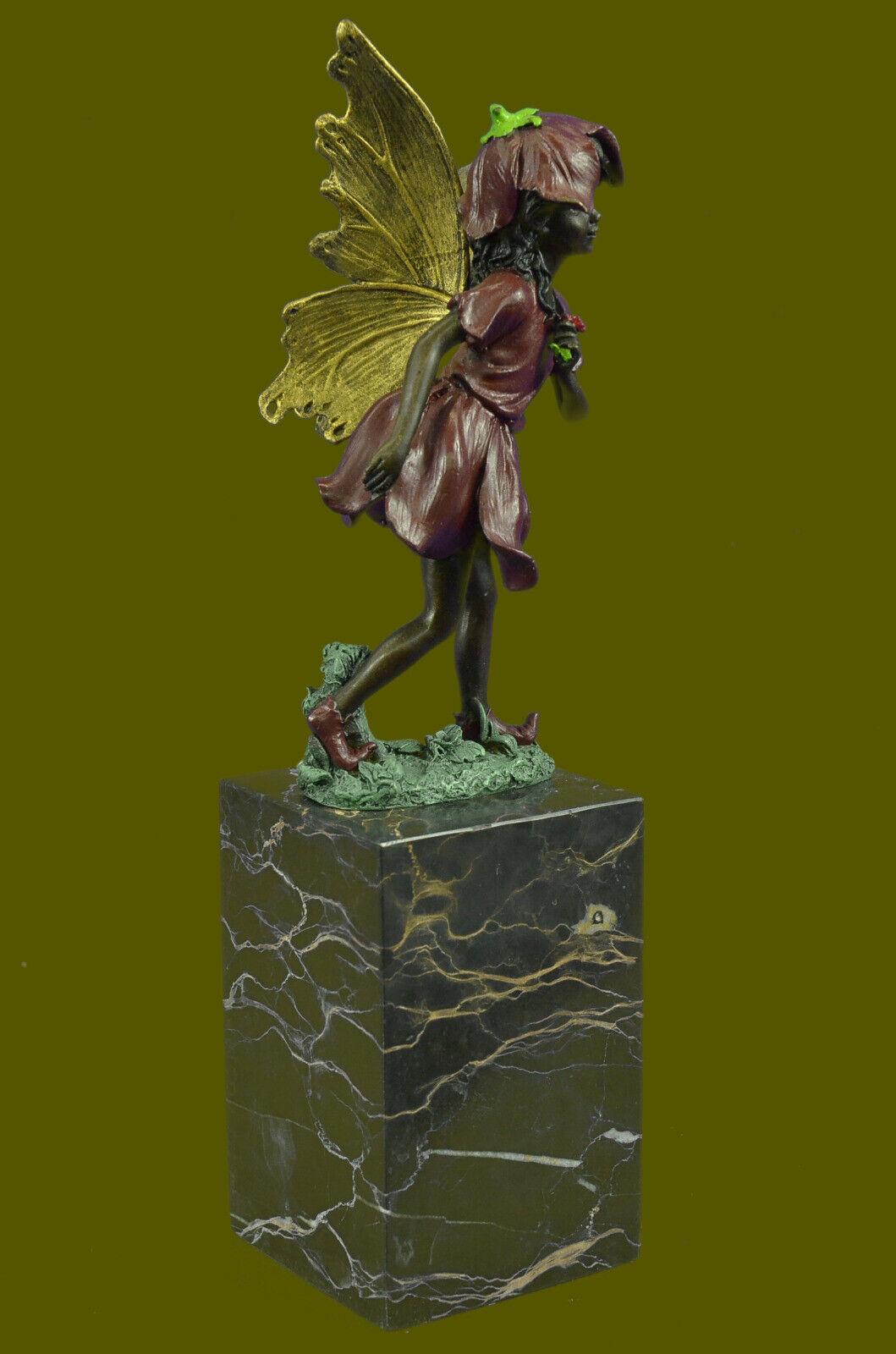 Купить Fairy Standing with a flower Garden Statue in aged bronze finish. 13 Tall Decor