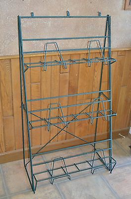 3- Tier Wire Floor Display Rack Stand- Books Magazines Heavy-duty Collapsible