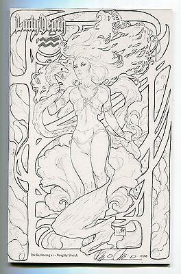 Lady Death Reckoning #1 Aquarius NAUGHTY Sketch Variant Nei Ruffino Cover ZODIAC