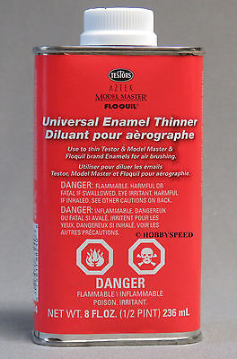 TESTORS UNIVERSAL ENAMEL PAINT THINNER 8OZ airbrushing airbrush cleaner TES8824