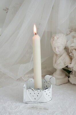 Chic Antique Kerzenhalter Herz Kerzenleuchter Kammerleuchter Shabby Chic Vintage