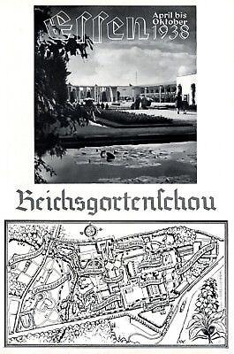 Reichsgartenschau Essen XL Reklame 1938 Bundesgartenschau Werbung Buga