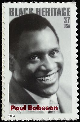 2004 37C PAUL ROBESON, AFRICAN-AMERICAN SINGER & ACTOR SCOTT 3834 MINT F/VF NH